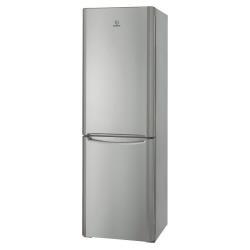 Réfrigérateur Indesit BIAA 13 SI - Réfrigérateur/congélateur - pose libre - largeur : 60 cm - profondeur : 65.5 cm - hauteur : 187 cm - 303 litres - congélateur bas - classe A+ - argenté(e)