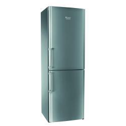 Réfrigérateur Hotpoint Ariston EBMH 18221 V O3 - Réfrigérateur/congélateur - pose libre - largeur : 60 cm - profondeur : 65.5 cm - hauteur : 187.5 cm - 302 litres - congélateur bas - classe A+ - inox