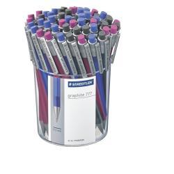 Porte mines STAEDTLER graphite 777 - Crayon rétractable - B - 0.5 mm - rétractable - avec gomme - pack de 50