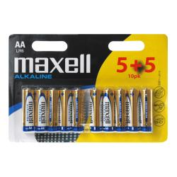 Pile Maxell LR6 - Batterie 10 x AA Alcaline