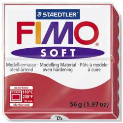 FIMO Soft - Pâte à modeler - 56 g - Rouge cerise