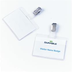 DURABLE - Porte-badge de nom - pour 60 x 90 mm - clip - transparent (pack de 25)