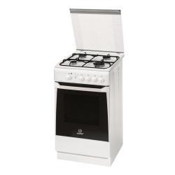 Cuisinière à gaz Indesit KN1G2S(W)/I S - Cuisinière - pose libre - largeur : 50 cm - profondeur : 50 cm - hauteur : 85 cm - blanc