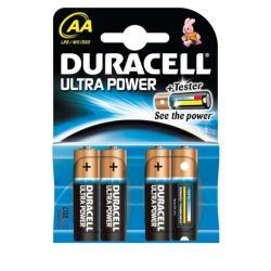 Pile Duracell Ultra Power MX1500 - Batterie 4 x type AA Alcaline (pack de 20)