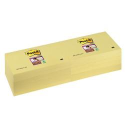 Post-it Post-it Super Sticky 655-6SSCY - Notes - 76 x 127 mm - 1080 feuilles (12 x 90) - jaune électrique