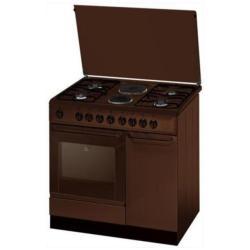 Cuisinière à gaz Indesit K9B11S(B)/I S - Cuisinière - pose libre - largeur : 90 cm - profondeur : 60 cm - hauteur : 85 cm - Classe D - bordeaux