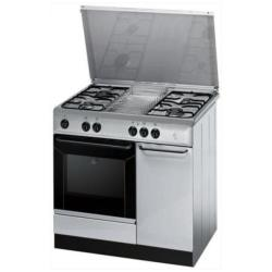 Cuisinière à gaz Indesit K9G21S(X)/I S - Cuisinière - pose libre - largeur : 90 cm - profondeur : 60 cm - hauteur : 85 cm - inox
