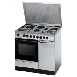 Cuisinière à gaz Indesit K9B11S(X)/I S - Cuisinière - pose libre - largeur : 90 cm - profondeur : 60 cm - hauteur : 85 cm - Classe D - inox