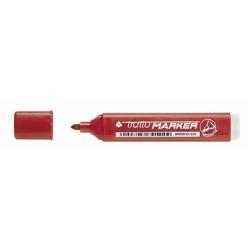 tratto - Marqueur - permanent - rouge - encre à base d'alcool - 1.4-2.8 mm - pack de 12