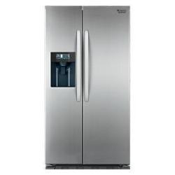 Réfrigérateur Hotpoint Ariston SXBD 922 F WD - Réfrigérateur/congélateur - pose libre - largeur : 90 cm - profondeur : 75 cm - hauteur : 176 cm - 515 litres - Américain avec distributeur d'eau - classe A+ - inox