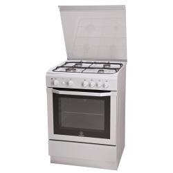 Cuisinière à gaz Indesit I6GG1F.1(W)/I - Cuisinière - pose libre - largeur : 60 cm - profondeur : 60 cm - hauteur : 85 cm - blanc
