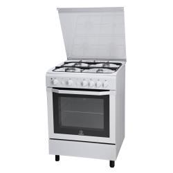Cuisinière à gaz Indesit I6GG1F(W)/I - Cuisinière - pose libre - largeur : 60 cm - profondeur : 60 cm - hauteur : 85 cm - blanc