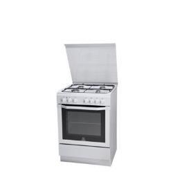 Cuisinière à gaz Indesit I6GSH1AF(W)/I - Cuisinière - pose libre - largeur : 60 cm - profondeur : 60 cm - hauteur : 85 cm - classe A - blanc