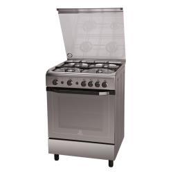 Cuisinière à gaz Indesit I6GG1F(X)/I - Cuisinière - pose libre - largeur : 60 cm - profondeur : 60 cm - hauteur : 85 cm - inox
