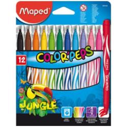 Maped Color'Peps Jungle Innovation - Marqueur - non permanent - couleurs assorties - 2.8 mm - moyen - pack de 12