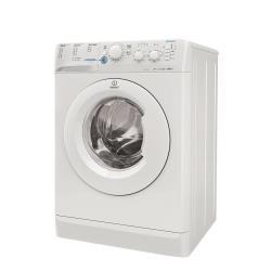 Lave-linge Indesit Innex XWC 61051 W EU - Machine � laver - pose libre - largeur : 59.5 cm - profondeur : 54 cm - hauteur : 85 cm - chargement frontal - 52 litres - 6 kg - 1000 tours/min - blanc