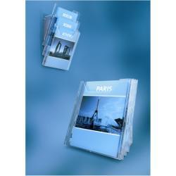 Porte-brochures DURABLE COMBIBOXX SET L - Porte-document - montable au mur, bureau - 3 pochettes - pour A4 - transparent