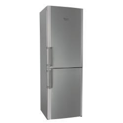 Réfrigérateur Hotpoint Ariston EBLH 18323 X F - Réfrigérateur/congélateur - pose libre - largeur : 60 cm - profondeur : 65 cm - hauteur : 187 cm - 295 litres - congélateur bas - Classe A++ - finition inox