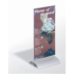 Porte-brochures DURABLE - Présentoir - bureau - pour 1/3 A4 - double face - transparent
