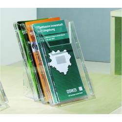 Porte-brochures DURABLE COMBIBOXX - Porte-document - montable au mur, bureau - pour A6, 1/3 A4, 210 x 116 mm - transparent