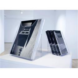 Porte-brochures DURABLE COMBIBOXX SET L - Porte-document - montable au mur, bureau - 3 pochettes - pour 1/3 A4 - transparent