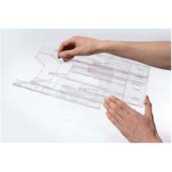 Porte-brochures DURABLE COMBIBOXX PRO - Porte-document - montable au mur, bureau - pour A4, A6, 1/3 A4, 311 x 240 mm - transparent