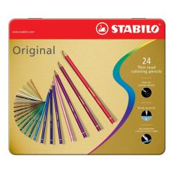 Stabilo Original - Crayon de couleur - couleurs assorties - 2.5 mm - pack de 24