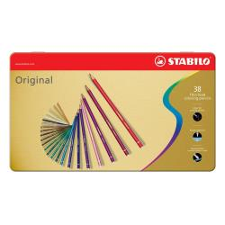 Stabilo Original - Crayon de couleur - couleurs assorties - 2.5 mm - pack de 38