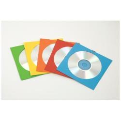 Porte-documents Fellowes - Enveloppe CD/DVD - couleurs assorties (pack de 50 )