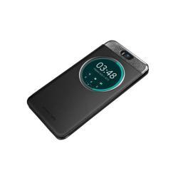 Housse ASUS MyView Cover - Protection à rabat pour téléphone portable - polyuréthane, polycarbonate - noir - pour ASUS ZenFone Selfie (ZD551KL)
