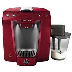 """Expresso et cafetière Electrolux Lavazza A Modo Mio Favola ELM5400MR - Machine à café avec buse vapeur """"Cappuccino"""" - 15 bar - Rouge métallique"""