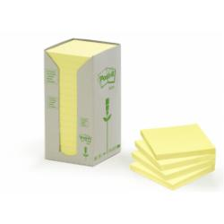 Post-it Post-it 654-1T - Mini tour de note - 76 x 76 mm - 1600 feuilles (16 x 100) - jaune