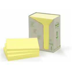Post-it Post-it 655-1T - Mini tour de note - 76 x 127 mm - 1600 feuilles (16 x 100) - jaune