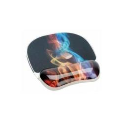 Tapis de souris Fellowes Photo Gel Rainbow Smoke - Tapis de souris avec repose-poignets