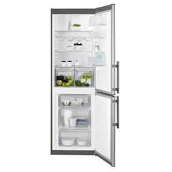Réfrigérateur Electrolux EN3453MOX - Réfrigérateur/congélateur - pose libre - largeur : 59.5 cm - profondeur : 63 cm - hauteur : 184.5 cm - 318 litres - congélateur bas - Classe A++ - gris/inox