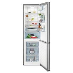 Réfrigérateur AEG S83920CMXF - Réfrigérateur/congélateur - pose libre - largeur : 59.5 cm - profondeur : 64.7 cm - hauteur : 200 cm - 350 litres - con