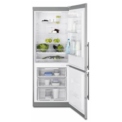 Réfrigérateur Electrolux EN4084JOX - Réfrigérateur/congélateur - pose libre - largeur : 70 cm - profondeur : 63.5 cm - hauteur : 186.8 cm - 357 litres - congélateur bas - classe A+ - argenté(e)