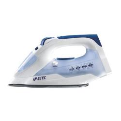 Fer à repasser Imetec Titanox K109 - Fer à vapeur - semelle : inox - 2000 Watt - bleu/blanc