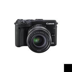 Appareil photo Canon EOS M3 - Appareil photo numérique - sans miroir - 24.2 MP - APS-C - 1080p - 3x zoom optique objectif EF-M 18-55 mm IS STM - Wi-Fi, NFC - noir