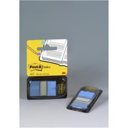 Post-it Post-it Index 680-23 - Marques-pages pour index avec dévidoir - 25.4 x 43.1 mm - 50 feuilles - bleu clair