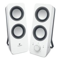 Enceinte PC Logitech Z200 - Haut-parleurs - blanc