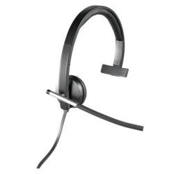 Logitech USB Headset Mono H650e - Casque - sur-oreille