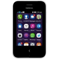 Téléphone portable Nokia Asha 230 Dual SIM - Téléphone mobile - double SIM - microSDHC slot - GSM - 320 x 240 pixels (142 ppi) - TFT - 1,3 MP - blanc