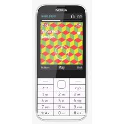 Téléphone portable Nokia 225 Dual SIM - Téléphone mobile - double SIM - microSDHC slot - GSM - 320 x 240 pixels (142 ppi) - 2 MP - blanc
