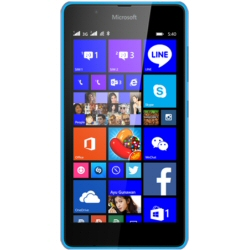"Smartphone Microsoft Lumia 540 Dual SIM - Smartphone - double SIM - 3G - 8 Go - microSDXC slot - GSM - 5"" - 1 280 x 720 pixels (294 ppi) - IPS - 8 MP (caméra avant de 5 mégapixels) - Windows Phone 8 - cyan"