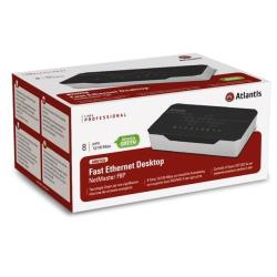 Commutateur Atlantis Land L2 Fast Ethernet Switch A02-F8P - Commutateur - 8 x 10/100 - Ordinateur de bureau