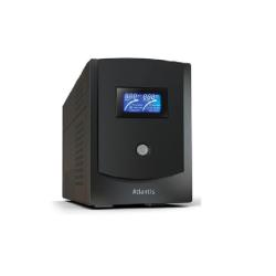 UPS onduleur Atlantis Land Linea Professional HostPower 3002 - Onduleur - CA 230 V - 1.5 kW - 3000 VA 10 Ah - RS-232, USB - connecteurs de sortie : 6