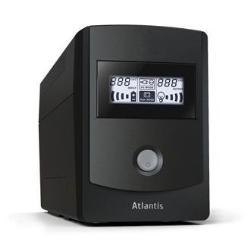 UPS onduleur Atlantis Land HostPower 851 - Onduleur - 480 Watt - 850 VA 9 Ah - USB - connecteurs de sortie : 3