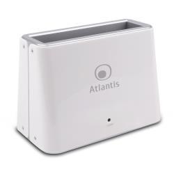 Boîtier pour disque dur externe Atlantis Land Linea Professional DK42 Professional - Contrôleur de stockage - 2,5 po./3,5 po. partagé - SATA 6Gb/s - 600 Mo/s - USB 3.0 - blanc