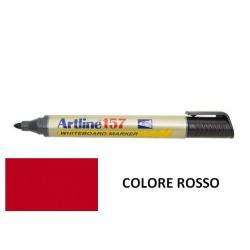 Marqueur Artline 157 - Marqueur - non permanent - pour verre, tableau blanc - rouge - encre pigmentée à base d'alcool - 2 mm